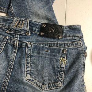 Miss Me Plain Pocket Boot Cut Jeans Size 28